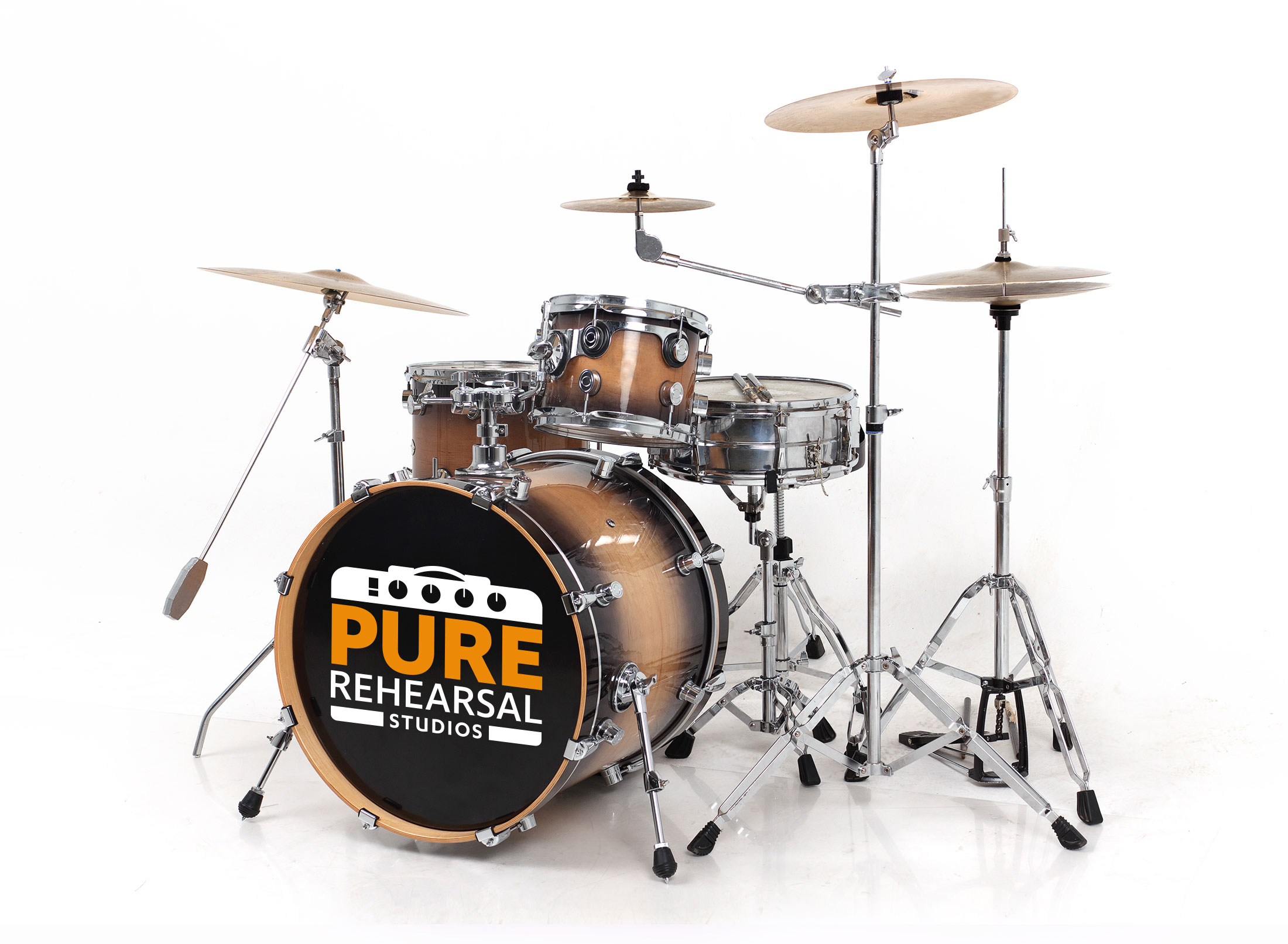Pure rehearsal drum kit image
